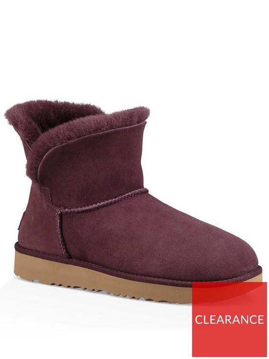 541d20e079382f UGG Classic Cuff Mini Ankle Boot - Port | very.co.uk