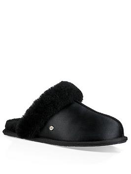 ugg-scuffette-ii-satin-mule-slipper-black
