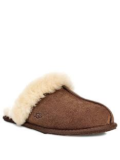 ugg-scuffette-ii-mule-slippers-dark-brown