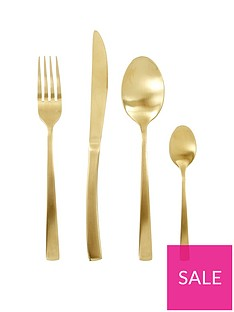 ideal-home-matt-gold-16-piece-cutlery-set