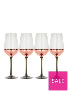 ideal-home-metallic-rose-gold-set-of-4-wine-glasses