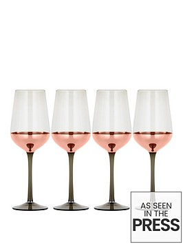 metallic-rose-gold-set-of-4-wine-glasses
