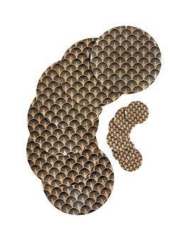 ideal-home-sparkle-glass-6-piece-placemat-coaster-set-gold-black