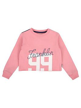 franklin-marshall-girls-cropped-sweat-top