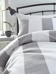 silentnight-wide-waffle-stripe-cotton-rich-duvet-cover-set