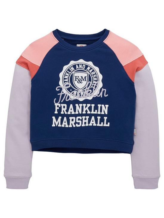 Franklin   Marshall Girls Colourblock Sweat Top  fc85b85e62a