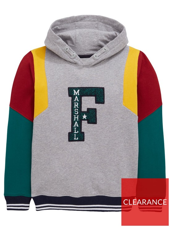 Boys Varsity Colour Block Overhead Hoody