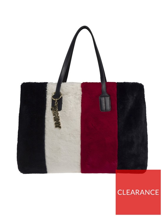 3a2754b4 Tommy Hilfiger Tommy Hilfiger Cool Tommy Faux Fur Tote Bag | very.co.uk