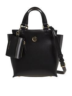 tommy-hilfiger-effortless-saffiano-satchel-bag-black