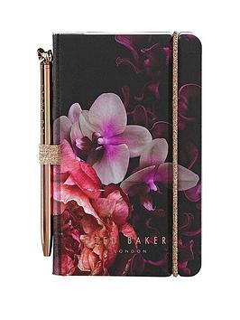 ted-baker-black-splendour-mini-notebook-and-pen