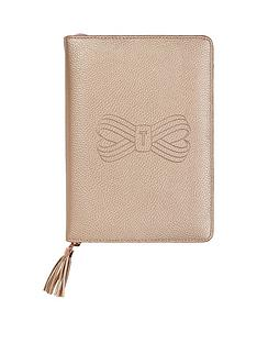 ted-baker-a5-tassel-folio-rose-gold