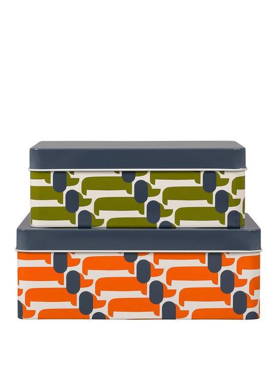 best service fd9ee 783fa Storage Tins Set Of 2 Dachshund
