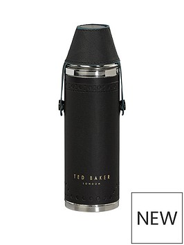 ted-baker-hip-flask-with-shot-cups-black-brogue-monkian