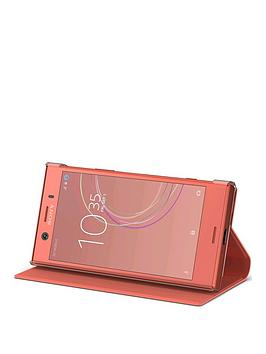 sony-sony-original-stand-style-covernbspprotective-case-for-sony-xperia-xz1-compact-pink