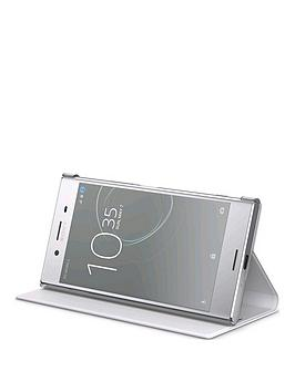 sony-sony-original-stand-style-cover-protective-case-for-sony-xperia-xz-premium-white