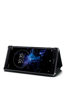 sony-sony-original-stand-style-cover-protective-case-for-sony-xperia-xz2-black