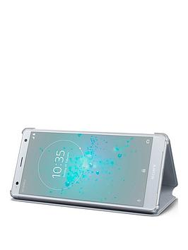 sony-sony-original-stand-style-cover-protective-case-for-sony-xperia-xz2-silver