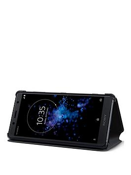 sony-sony-original-stand-style-cover-protective-case-for-sony-xperia-xz2-compact-black