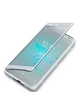 sony-sony-original-touch-style-cover-protective-case-for-xperia-xz2-silver