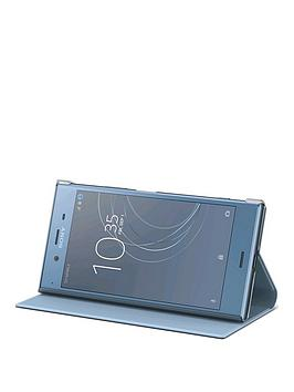 sony-sony-original-stand-style-cover-protective-case-for-sony-xperia-xz1-blue