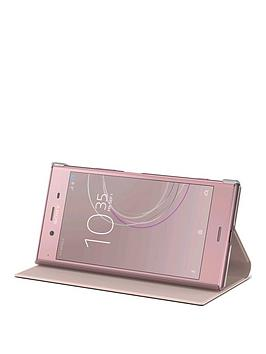 sony-sony-original-stand-style-cover-protective-case-for-sony-xperia-xz1-pink