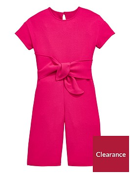 v-by-very-girls-pink-tie-front-culotte-jumpsuit
