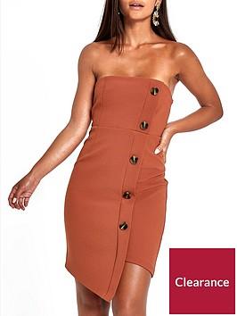 ri-petite-button-through-bodycon-midi-dress--nbspbrown
