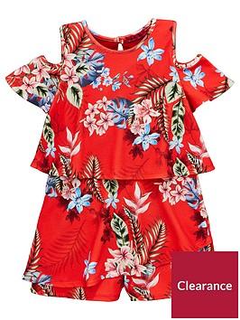 v-by-very-girls-cold-shoulder-floral-playsuitnbsp--red