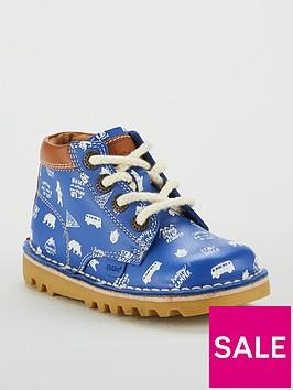 kickers-boys-kick-hi-print-boot-blue