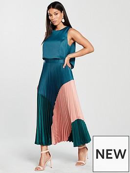 coast-lola-three-tone-pleated-dress--nbspmulti