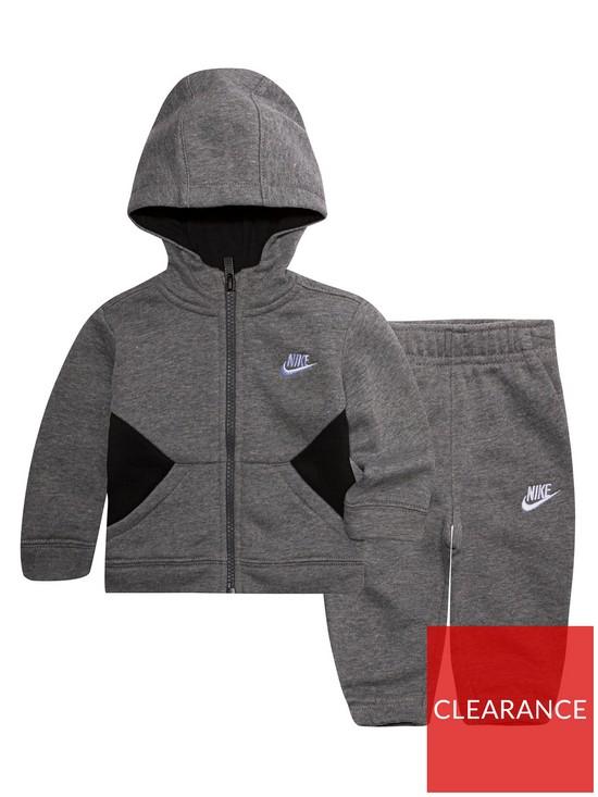 fa567ef4e26c Nike Sportswear Baby Boys Core Tracksuit Set - Carbon Heather