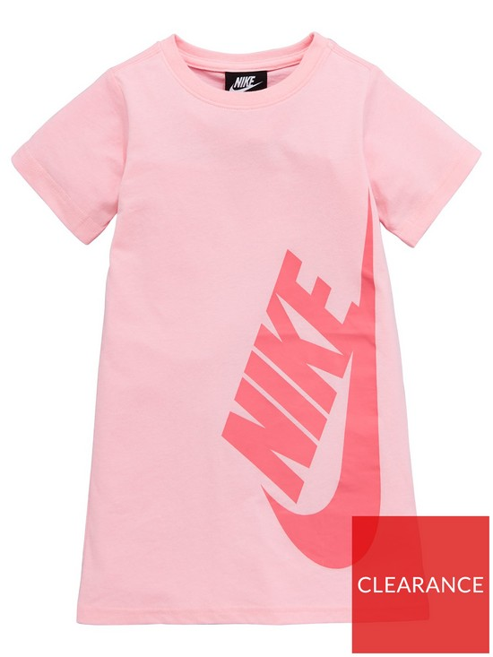 418ad0d63ed Nike Younger Girls NSW T-Shirt Dress - Pink | very.co.uk