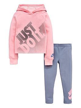 nike-sportswear-younger-girlsnbspjdinbsphoodie-amp-legging-set-pinkslatenbsp