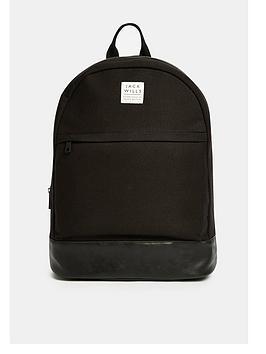jack-wills-portbury-black-backpack