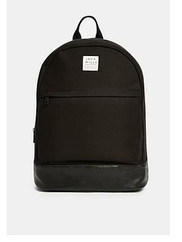 Jack Wills Portbury Black Backpack