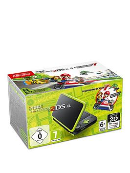 nintendo-2ds-xl-console-with-mario-kart-7--nbspblack-and-lime-green