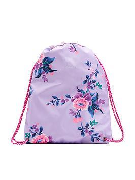 joules-girls-floral-rubber-drawstring-bag