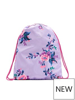 joules-girls-floral-rubber-drawstring-bag