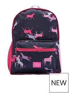 joules-girls-unicorn-printed-backpack