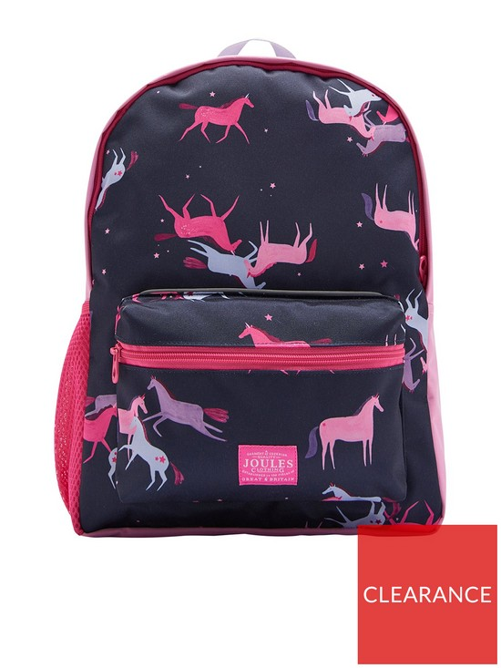 a4f9e63df0a Joules Girls Unicorn Printed Backpack - Navy/Pink | very.co.uk