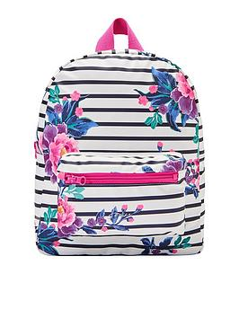 joules-girls-stripe-rubber-rucksack-floral-print