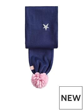 joules-girls-star-pom-scarf