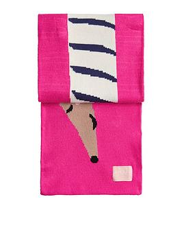 joules-girls-sausage-dog-scarf-pink