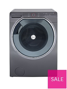 Hoover Axi AWDPD 4138LHR113kgWash, 8kgDry 1400 Spin Washer Dryer with AI technology - Graphite