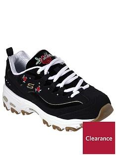 skechers-dlitesnbspembroidered-rose-bloom-trainers-black