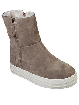 Skechers Double Up Fall In Line Calf Boot - Taupe