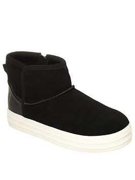 Skechers Double Up Shorty Ankle Boot - Black