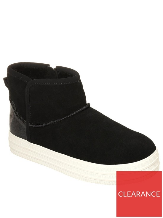 co Black uk Shorty Up Skechers Very Ankle Boot Double xX0XvqT