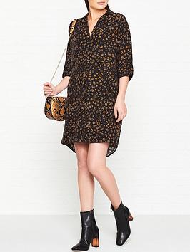 whistles-lola-cheetah-print-dress-black