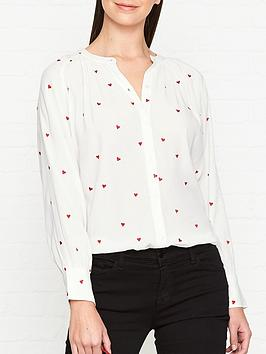 whistles-heart-embroidered-blouse-cream